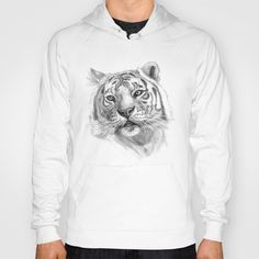 Sentimental Tiger SK118 Hoody by S-Schukina - $38.00