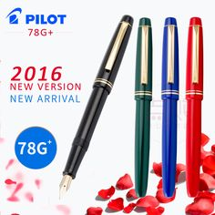 PILOT 78g 78g+ 22k golden original Iridium  fountain pen students practice calligraphy ef f m nib ink cartridge con50  converter #Affiliate