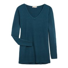 Love this color! Like the neck and texture too! Great casual top