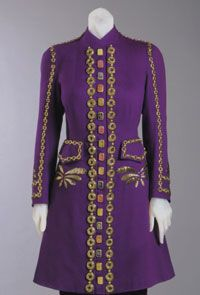 1937. Designed by Elsa Schiaparelli, French (born Italy), 1890 - 1973. Embroidered by Lesage, Paris, founded 1922.