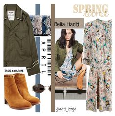 """Bella Hadid"" by goreti ❤ liked on Polyvore featuring Fendi, Zadig & Voltaire, TrickyTrend, polyvoreeditorial and modeshe"