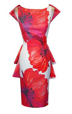 61da4d8967b08 94108 - Carla Ruiz 94108,Coral Floral Print Dress by Carla Ruiz now in store