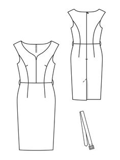 Princess Sheath Dress Burda Jan 2013 #107 Pattern $5.99: http://www.burdastyle.com/pattern_store/patterns/princess-sheath-dress-012013
