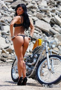 What that Custom chopper motorcycles and girls