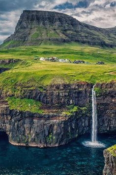 Gásadalur, Faroe Islands, Denmark by KSB Places To Travel, Places To See, Travel Destinations, Places Around The World, Around The Worlds, Wonderful Places, Beautiful Places, Natural Scenery, Faroe Islands