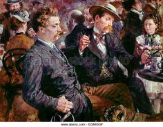 At the Beer Garden - Adolphe Menzel