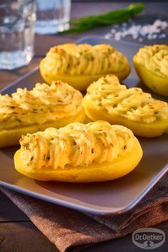 Crème-fraîche-Kartoffeln: Gefüllte Kartoffeln mit Crème fraîche und Schnittlauch