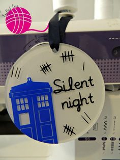 Doctor who Silence Christmas Ornament by KnottedLoveCrafts on Etsy