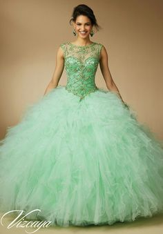 b43fee53b80 Shop Morilee s Jeweled Beading on Ruffled Tulle Quinceañera Dress.  Quinceanera Dresses by Morilee designed by Madeline Gardner. Jeweled  Beading on Ruffled ...