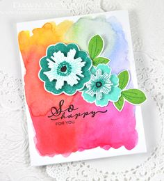 So Happy For You Card by Dawn McVey for Papertrey Ink (June 2015)