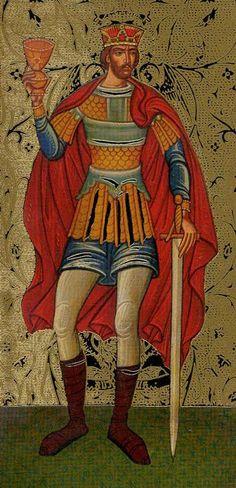 King of Cups - Golden Tarot of the Tsar by Atanas Alexandrov Atanassov