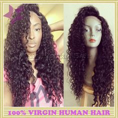 Glueless full lace human hair kinky curly wig for black women unprocessed virgin brazilian curly lace front wighttp://www.aliexpress.com/store/1805497
