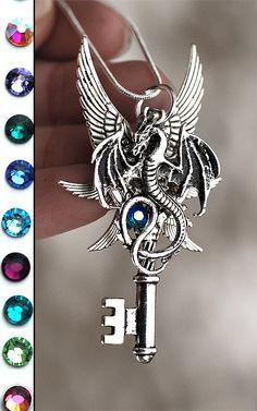 Six Winged Dragon Key Necklace by KeypersCove on Etsy, $29.99 http://www.etsy.com/shop/KeypersCove