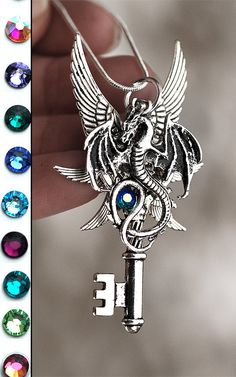 Six Winged Dragon Key Necklace by KeypersCove on Etsy, $29.99 http://www.etsy.com/shop/KeypersCove