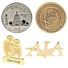 Make it a point to highlight your top employees or most valuable customers with the Die Struck Lapel Pin without Color. This metal pin features a military/butterfly clutch and is a bold, no frills way to celebrate and appreciate those who make your company all that it is. Customize it with your logo or create your own design to advertise your business long after the tradeshow, seminar, conference or other marketing event has ended. This is a great addition to welcome kits, program…