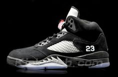 c602d968d5d7 air jordan v (5) – black metallic silver