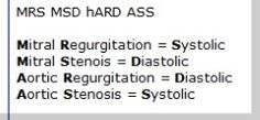 MRS MSD hARD ASS mnemonic for systolic vs. diastolic murmurs