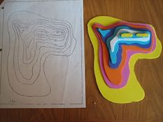Create a model from a map! You'll need: A simple contour map – 2 c… Create a model from a map! You'll need: A simple contour map – 2 copies (you can draw one yourself if you can't easily find a suit… Science Classroom, Science Education, Teaching Science, Teaching Art, History Education, Teaching History, Montessori Classroom, Science Curriculum, Science Lessons