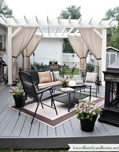 Love of Family & Home: Back Deck/Pergola Reveal