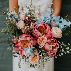 pretty wedding floral bouquet inspiration Getting married during the spring is very convenient if you want your decor filled with fresh and colorful flowers! It is also the most romantic season, where Floral Wedding, Fall Wedding, Dream Wedding, Wedding Ideas, Wedding Ceremony, Purple Wedding, Summer Wedding Inspiration, Wedding Things, Duck Egg Blue Wedding