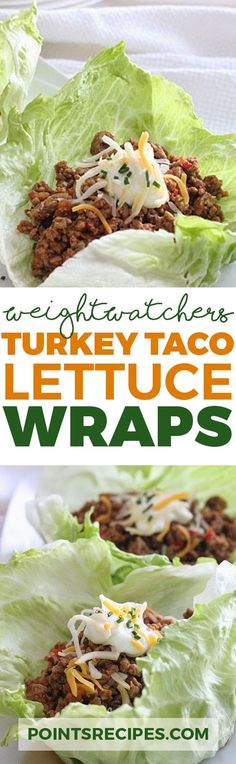Turkey Taco Lettuce Wraps (Weight Watchers SmartPoints)