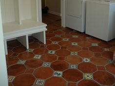 spanish tile floors | An installation with Spanish tiles from Mosaicos .