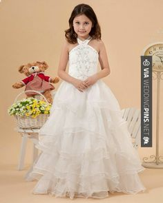 Neato - I like the ruffle out of chifon and I think it will be a better empire waste | CHECK OUT MORE GREAT FLOWER GIRL AND RING BEARER PHOTOS AND IDEAS AT WEDDINGPINS.NET | #weddings #wedding #flowergirl #flowergirls #rings #weddingring #ringbearer #ringbearers #weddingphotographer #bachelorparty #events #forweddings #fairytalewedding #fairytaleweddings #romance