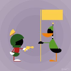 Daffy and Marvin the Martian... ...follow Marvin at http://marvin-martian.weebly.com #looneytunes #classic