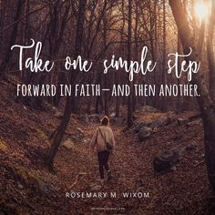 Just take one simple step. #DailyQuote