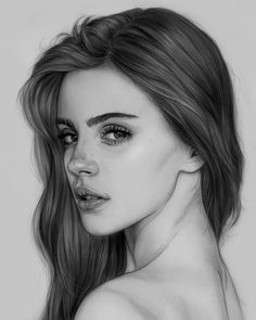 Best of Amazing Face Drawings (The best pictures of face drawings . - Best of Amazing Face Drawings - Girl Drawing Sketches, Art Drawings Sketches Simple, Dark Art Drawings, Portrait Sketches, Drawing Ideas, Drawing Tips, Rose Drawings, Girl Drawings, Girl Sketch