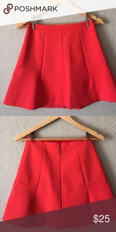 J. Crew skirt Poppy scuba knit skater skirt. Waist 13 1/2, length 16 1/2. Excellent condition J. Crew Skirts Mini