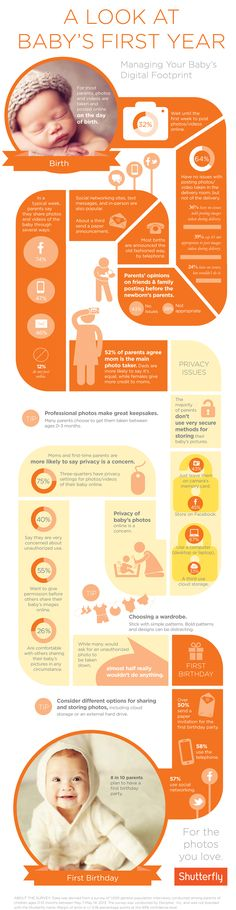 A Look at Baby's First Year Photography Infographic