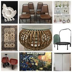 Online Estate Sales, Lawn Chairs, Stackable Chairs, Rattan, Auction, Table, Furniture, Home Decor, Wicker
