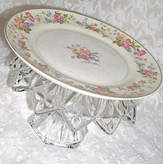 Recycled Vintage china Plate Indoors by WestbrookFarmCountry,