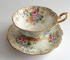 "Royal Albert China Tea Cup & Saucer ""Bridesmaid Rose"""