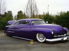 purple hot rod = but I don't know what kind of car it is