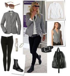 grey + white + black + Kate Moss