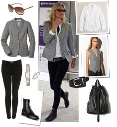 grey + white + black + Kate Moss