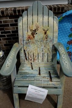 """Description of . A chair titled """"A Moment to Remember"""" by Steve Levey is part of the Highway 8 Chairs project. (Pioneer Press: Jean Pieri)"""