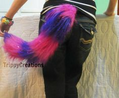 Fluffies hot pink and purple cheshire cat themed by TrippyDesigns