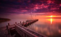 by Zoltan Duray on Sunrise Lake, Sunset, Sad Wallpaper, Natural Beauty, Beautiful Pictures, Clouds, Explore, Nature, Amazing
