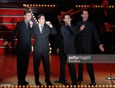 'Jersey Boys' (L-R) Daniel Reichard, John Lloyd Young, Christian Hoff and J. Robert Spencer perform at the Manhattan Theatre Club Spring Gala at the Hilton Hotel on May 15, 2006 in New York City.