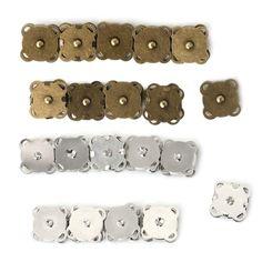 10PCS14/18mm DIY Magnetischen Druckknöpfen Geldbörse Verschluss Verschlüsse Metallknopf Tasche Handwerk