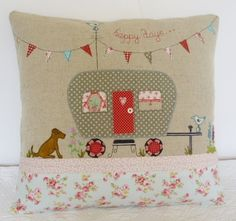 'Happy days...' caravan cushion