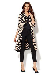 Shop Zebra Jacquard Coatigan. New York  amp  Company. -- cannot wait till f9c57c673