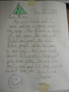A letter to a marine- 25 hilarious kids letters