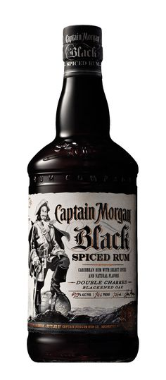 "Brand Launch Kit for Captain Morgan Black Spiced Rum dramatizing the ""darker side of Captain Morgan""."
