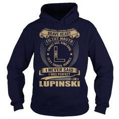 LUPINSKI Last Name, Surname Tshirt