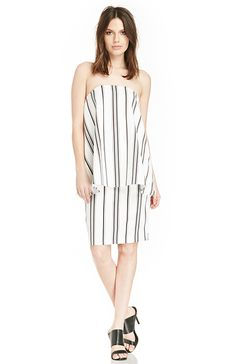 Cameo Rather Be Striped Dress in Black & White Stripe XS - S | DAILYLOOK