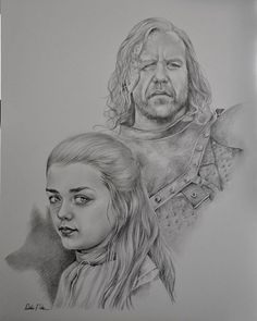 Arya and the hound by Dorset Portraits
